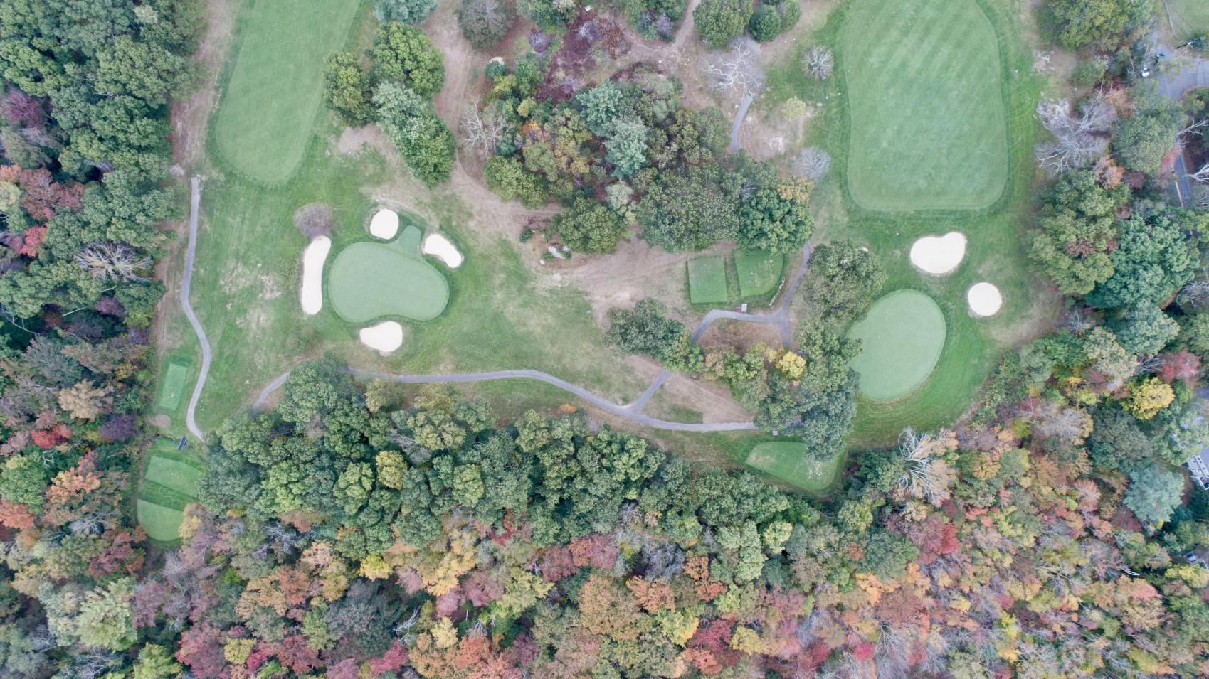 8th Green (left), 7th Green (right)